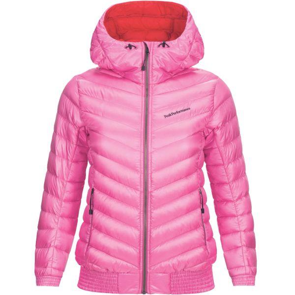 detailed look 6f636 9b548 Peak Performance Women Down Jacket Ice Hooded vibrant pink