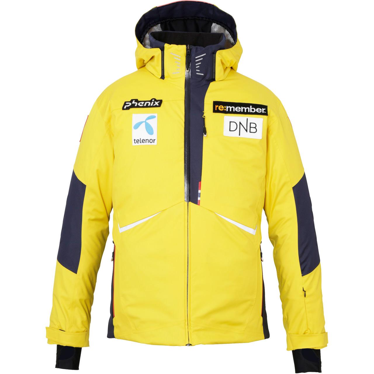 Phenix Men Jacket NORWAY ALPINE TEAM golden yellow